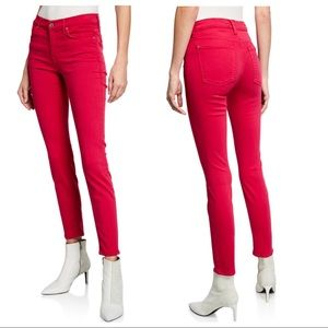 7 For All Mankind Ankle Skinny Hot Pink Jeans